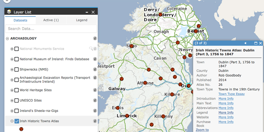 Map Of Ireland Heritage Sites.Irish Historic Towns Atlas Collaborate With The Heritage Council And