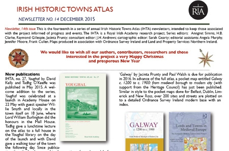 Irish Historic Towns Atlas Newsletters | Royal Irish Academy